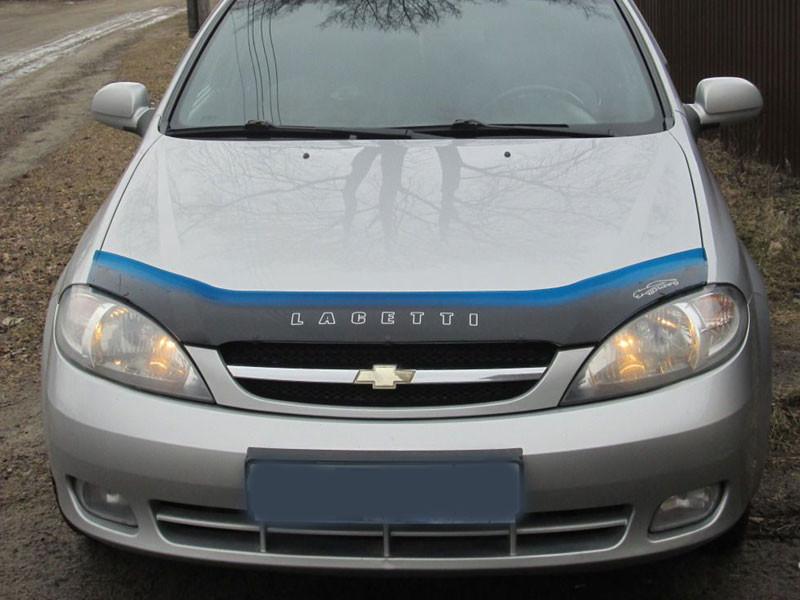 Дефлектор капота (мухобойка) Chevrolet Lacetti с 2003 г.в. х/б