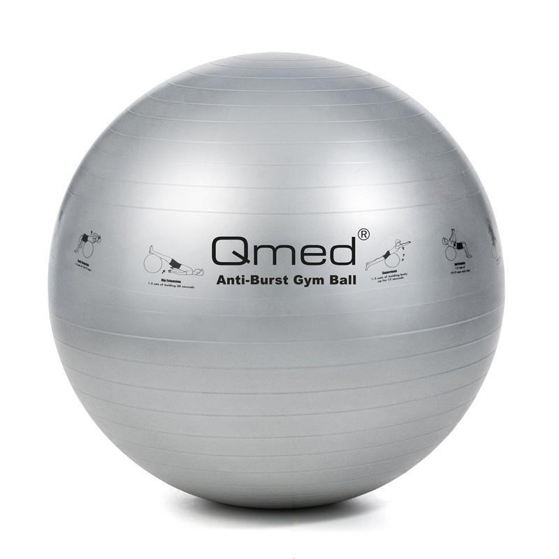 Фитбол - Qmed ABS Gym Ball 85 см. Гимнастический мяч для фитнеса. Серый