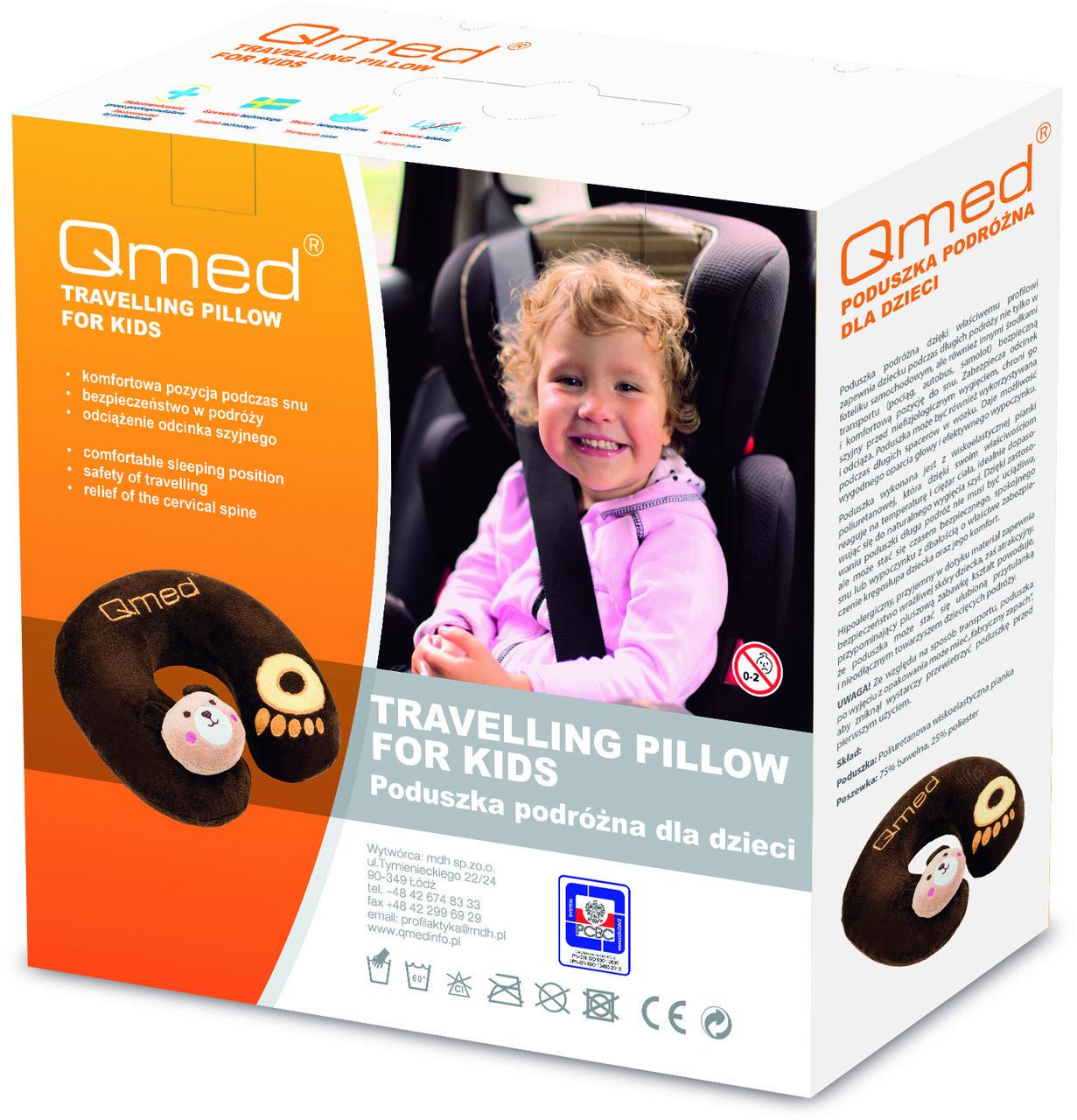 Qmed Travelling Kid Pillow - Дорожная подушка для путешествий, детская