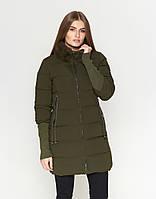 Стильная зимняя куртка-пуховик хаки женская Kiro Tokao