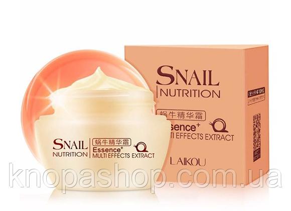 Дневной крем LAIKOU для лица с экстрактом улитки LAIKOU Snail Nutrition Essence Multi-Effects Extract. 50мл