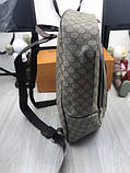Брендовый женский рюкзак Gucci коричневый Премиум Качество портфель Новинка 2019 года Стильный Гуччи реплика, фото 8