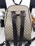 Брендовый женский рюкзак Gucci коричневый Премиум Качество портфель Новинка 2019 года Стильный Гуччи реплика, фото 9