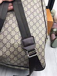 Брендовый женский рюкзак Gucci коричневый Премиум Качество портфель Новинка 2019 года Стильный Гуччи реплика, фото 10