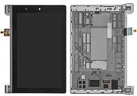 Дисплейный модуль (экран и сенсор) для Lenovo Yoga Tablet 2-830, с рамкой, черный, оригинал
