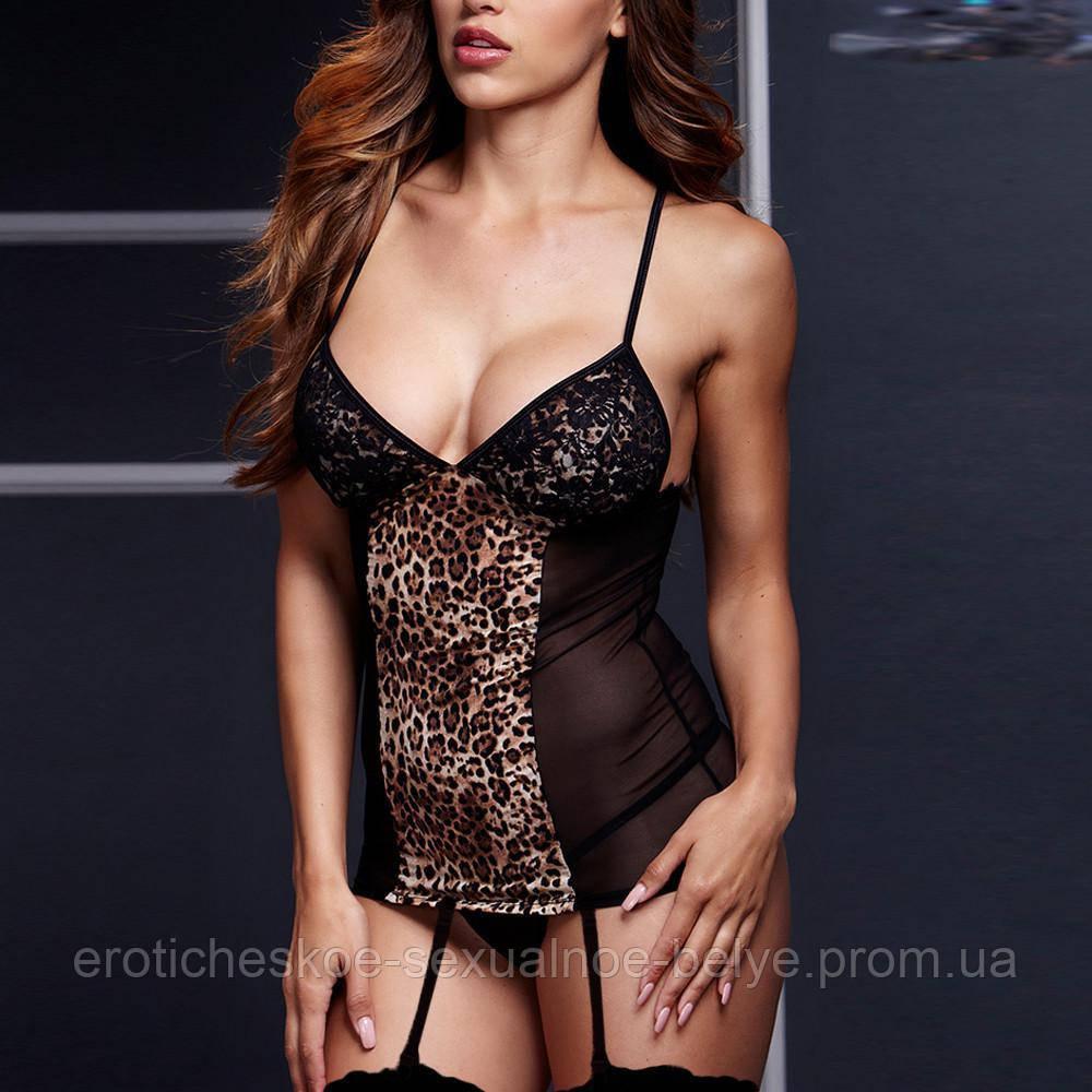 Комплект с пажами для чулок / Эротическое белье / Сексуальное белье / Еротична сексуальна білизна