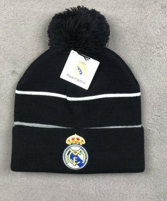 Футбольная шапка Реал Мадрид (черная)