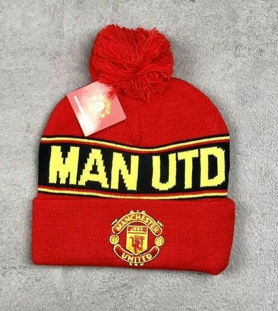 Футбольная шапка Манчестер Юнайтед (красная )