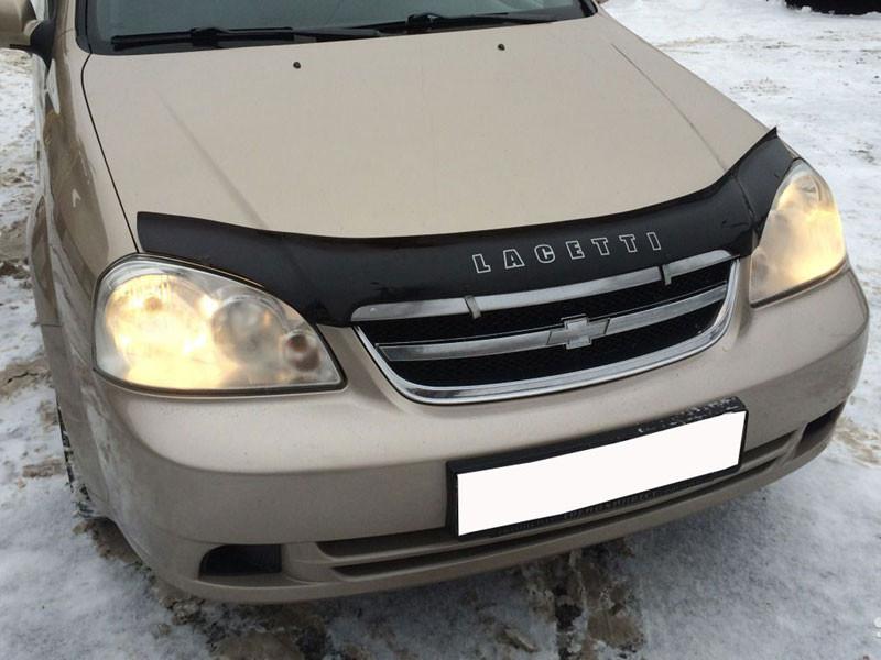 """Дефлектор капота (мухобойка) Chevrolet Lacetti с 2003 г.в.седан/универсал - """"OBVES.IN.UA"""" - обвесы, тюнинг, запчасти и аксессуары для вашего авто в Луцке"""