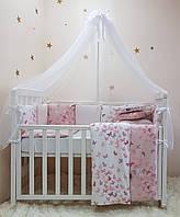 Комплект в кроватку (бортики - подушки) BabyDesign Бабочки (натуральный наполнитель - ekotton)