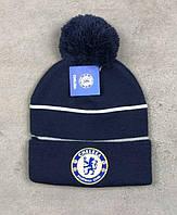 Футбольная шапка Челси  (темно синяя)