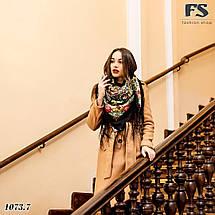 Чёрный павлопосадский платок Царский, фото 2