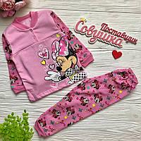 Детская теплая пижама на девочку 2г