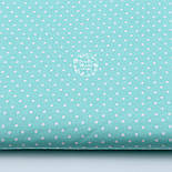 Ткань с белым горошком 4 мм на мятном фоне   (№ 804)., фото 3