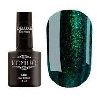 Гель-лак Komilfo №157 (темный бутылочно-зеленый с микро блеском, эмаль), 8 мл