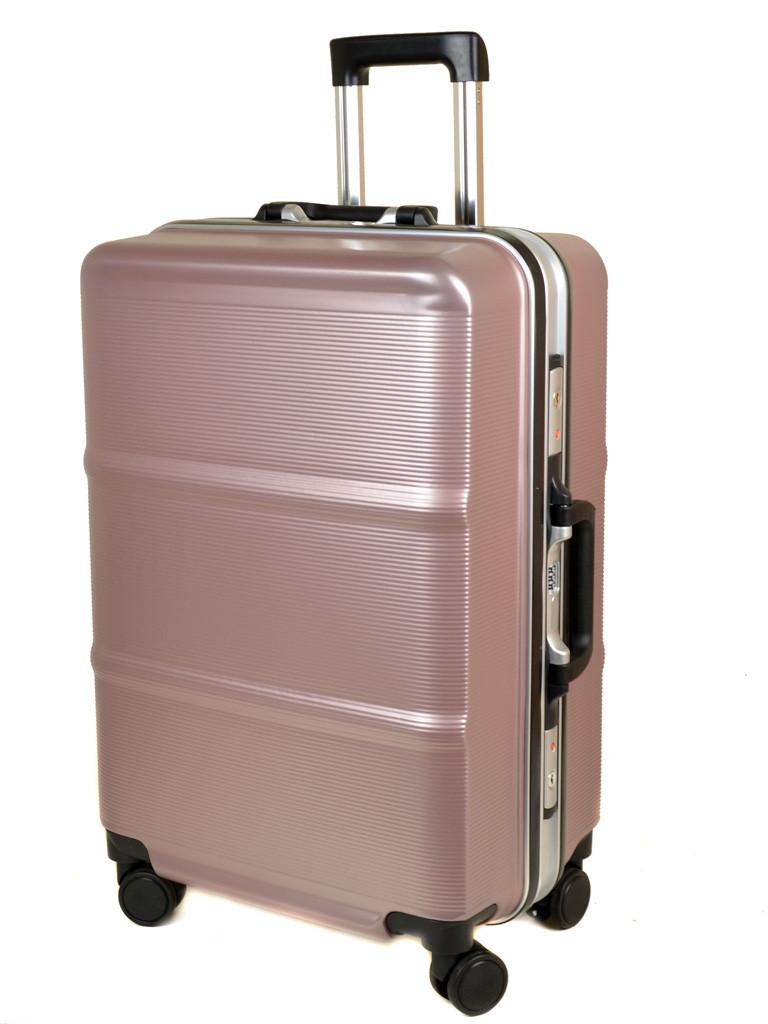 Дорожный Чемодан 1 Большой пластик PODIUM 01 pink розовый
