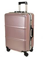 Дорожный Чемодан 1 Большой пластик PODIUM 01 pink розовый, фото 1