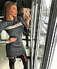 Очаровательное платье мерцающий люрексовый трикотаж гафре.  Размер: 42-46 . Цвета разные (5362), фото 7