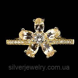 Серебряное кольцо с МОРГАНИТОМ (натуральный!!),серебро 925 пр. Размер 16,5