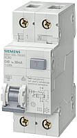 Дифференциальный автомат Siemens B6, 6kA, 30 mA, 1+N-P, тип AC (5SU1356-0KK06)