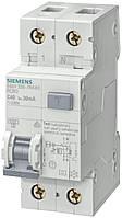 Дифференциальный автомат Siemens C6, 6kA, 30 mA, 1+N-P, тип AC (5SU1356-1KK06)