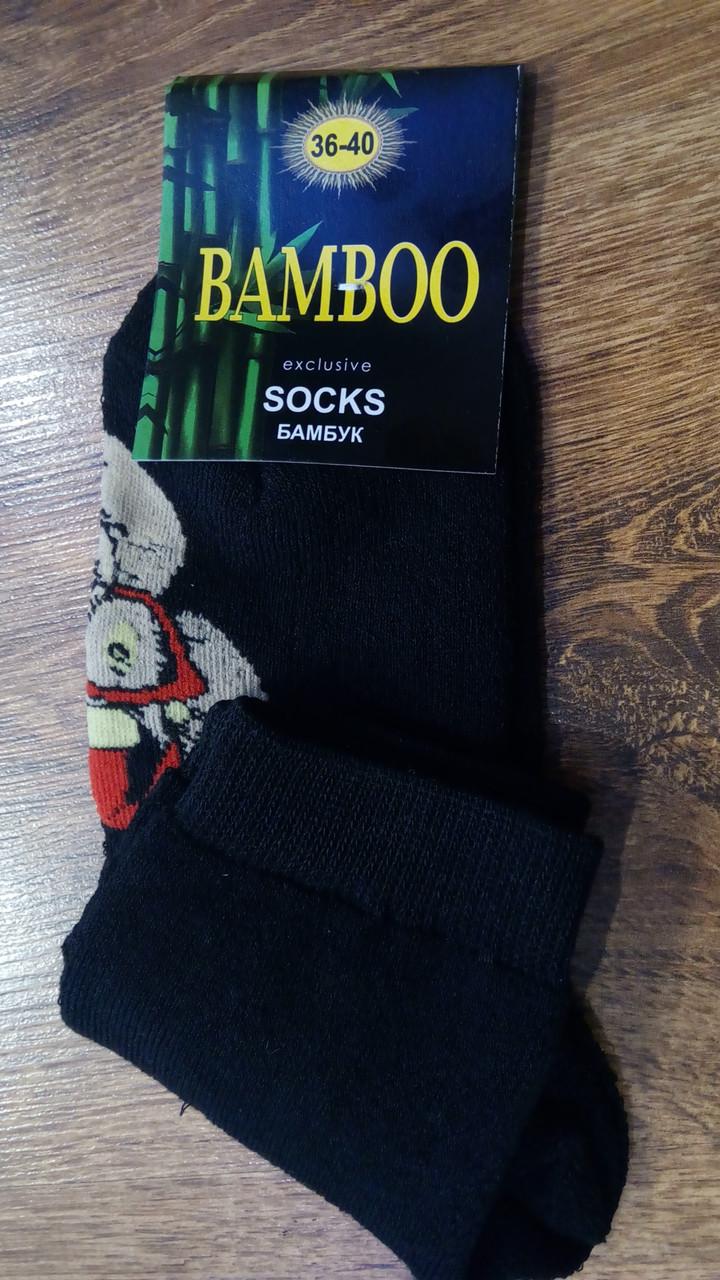 """Жіночі махрові шкарпетки""""BAMBOO Порося в окулярах"""""""
