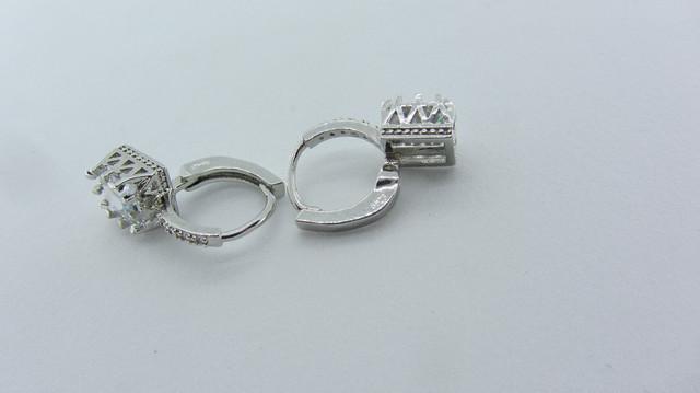 Серебряные серьги 925 пробы, серьги из стерлингового серебра, кубический цирконий