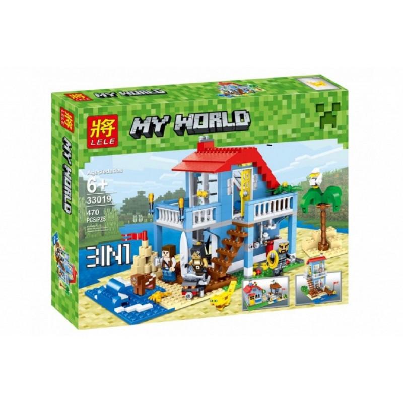 """Конструктор Minecraft Lele 33019 """"Домик на морском побережье"""" 470 деталей"""
