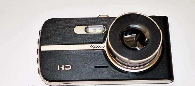 Видеорегистратор 2 камеры, FULL HD, T653 металл