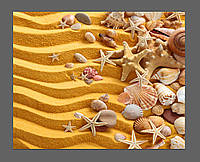 Картина на стекле Песок, морские ракушки 50*40 см