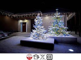 Новогодняя гирлянда Бахрома 500 LED, Белый холодный свет 21 м + пульт, фото 3
