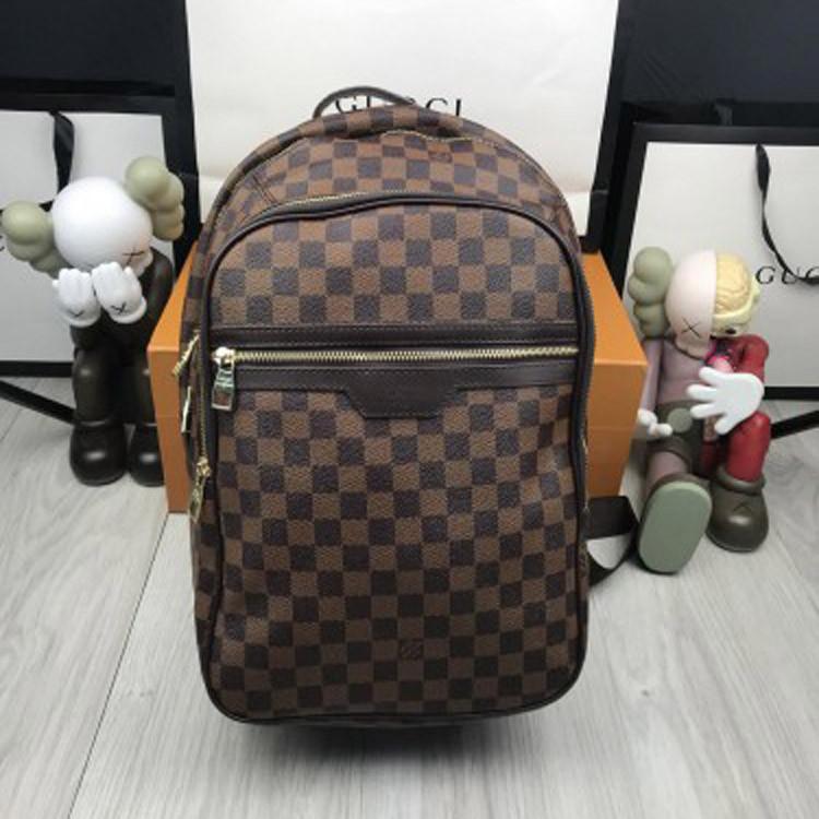 0ed11456a76d Красивый женский рюкзак Louis Vuitton коричневый стильный рюкзачок унисекс  кожзам Луи Виттон люкс реплика - Ваш