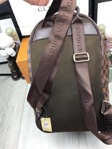 5314fda4ff03 ... фото Красивый женский рюкзак Louis Vuitton коричневый стильный рюкзачок  унисекс кожзам Луи Виттон люкс реплика, ...