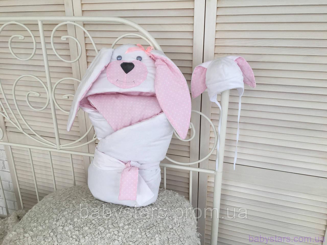"""Набор для новорожденного """"Мамина зайка"""", розовый, лето, деми"""