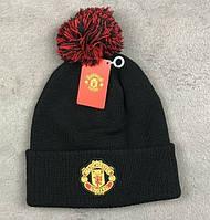 Футбольная шапка Манчестер Юнайтед (черная)