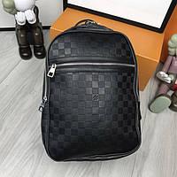 Удобный женский рюкзак Louis Vuitton черный практичный рюкзачок унисекс  кожзам Луи Виттон премиум реплика 5dcee6771a513