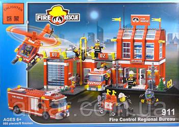 """Конструктор BRICK """"пожарная охрана""""980 деталей."""