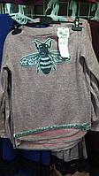 Кофта для девочки с пайетками Пчела