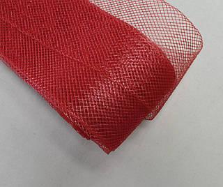 Жёсткий регилин цвет красный арт.15022-07, цена за рулон(20метров).