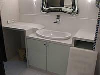 Столешница из кварца в ванную