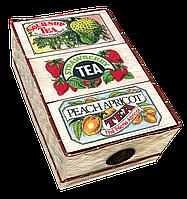 Три вида ароматизированного черного чая, 3 FLAVOUR MAT BASKET, Млесна (Mlesna) 150г (3*50г)