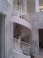 Коаные перила на лестницу модель №1