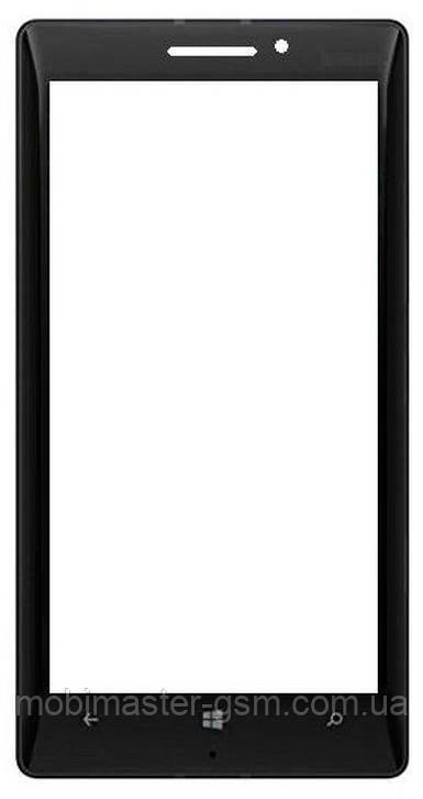 Корпусное стекло на Lumia 930 черное