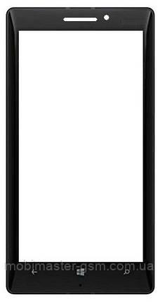 Корпусное стекло на Lumia 930 черное, фото 2