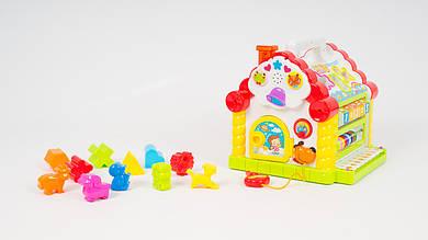 Музыкальная игрушка HOLA Теремок-сортер. Со звуковыми и световыми эффектами.