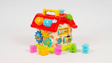 Игрушка сортер LIMO TOY. Домик с буквами и геометрическими фигурами