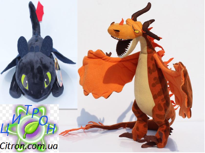Набор Беззубик и Кривоклык 26 и 70 см. Оригинальные плюшевые игрушки от DreamWorks.