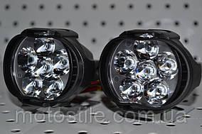 Дополнительные светодиодные фары RBK-105 на авто и мотоцикл + Переключатель света в подарок!