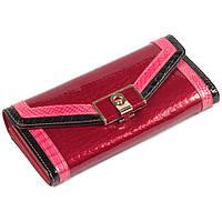 5f1da061e41c Красивый женский кожаный кошелек красный с лакированным покрытием и  контрастной отделкой BETH CAT AL-AE450