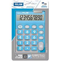 Калькулятор Milan ml.150610TDBBL TOUCH DUO Rubber Touch, голубой